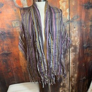 MULTI-COLORED SPRING SCARF/WRAP